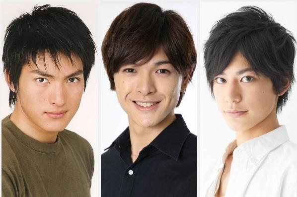 (左から)脇崎智史さん、遊馬晃祐さん、阿部快征さん 総角とともに妖人省から派遣される帝国陸軍少尉
