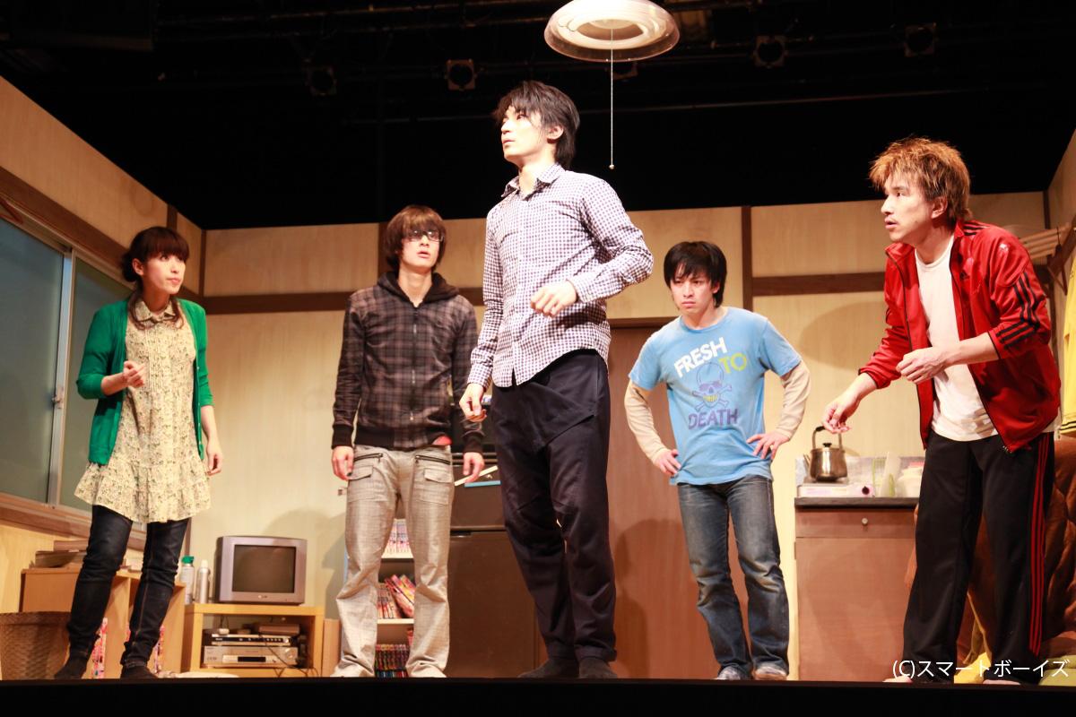 (左より)桜木さやか、高崎翔太、林修司、長谷川太郎、吉谷光太郎