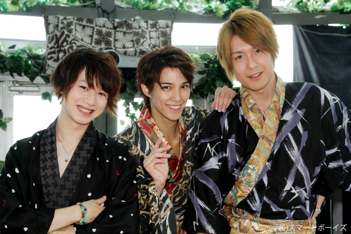 左から、植田圭輔、浜尾京介、大山真志