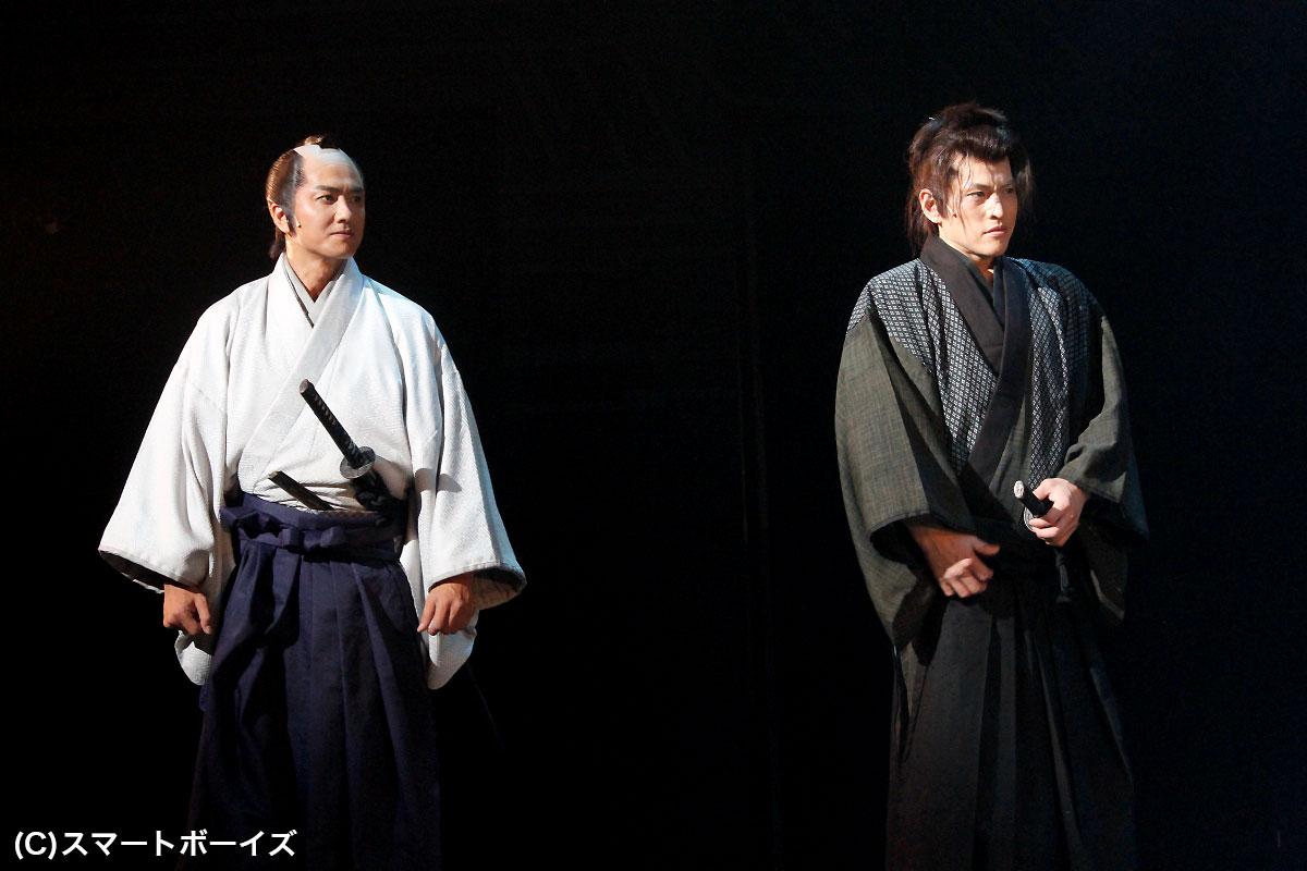 原田龍二(左)と市瀬秀和