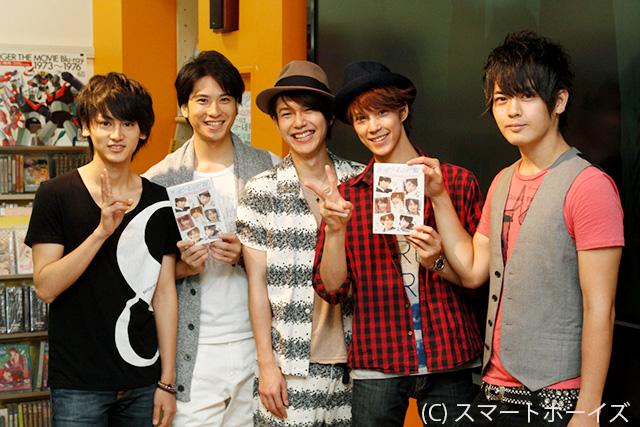 (左から)佐藤永典、滝口幸広、平野良、浜尾京介、古原靖久