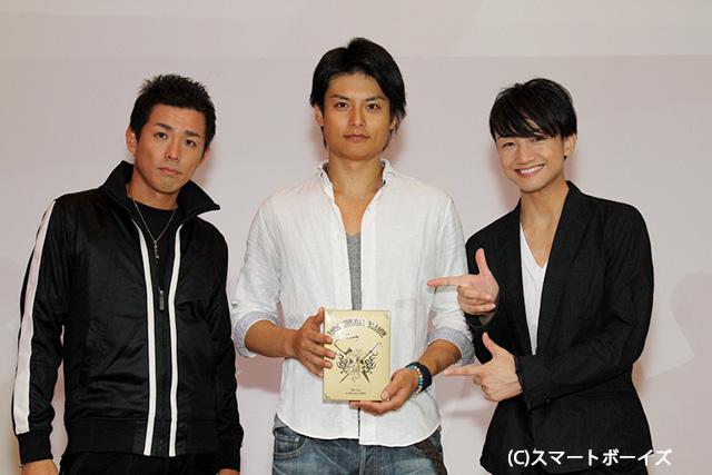 左から森山栄治、伊阪達也、永山たかし