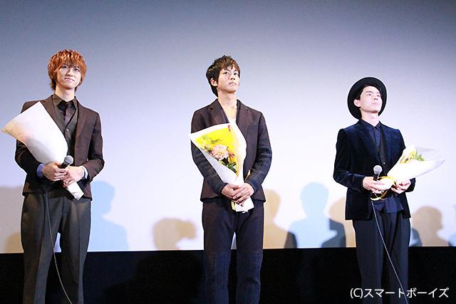 右から主演の菅田将暉、松坂桃李、相葉裕樹