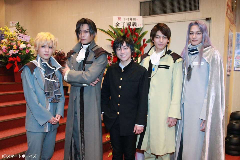 (左から)樋口裕太、兼崎健太郎、聖也、加藤慶祐、寿里