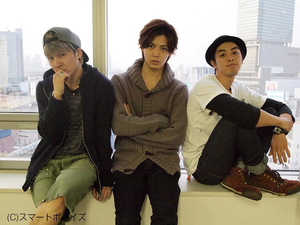 左から風間由次郎さん、猪塚健太さん、結城洋平さん