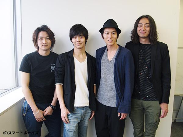 左から株元英彰さん、猪塚健太さん、原田新平さん、高頭祐樹さん