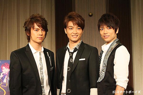 (写真左より)浦井健治さん、井上芳雄さん、山崎育三郎さん