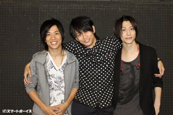 (写真左より)天野博一さん、馬場良馬さん、鈴木拡樹さん