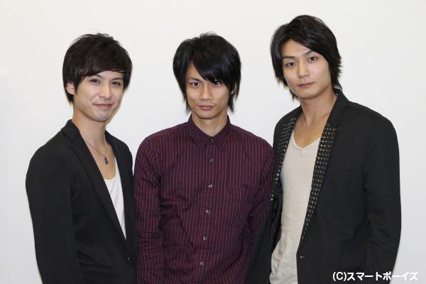 左から平田裕一郎さん、馬場良馬さん、八神蓮さん