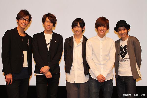 (左より)矢口空さん、伊勢大貴さん、廣瀬大介さん、赤澤燈さん、桑野晃輔さん