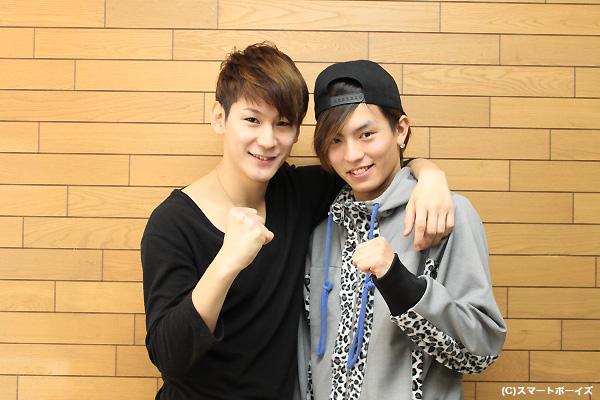 小野田龍之介さん(左)と橋本汰斗さん