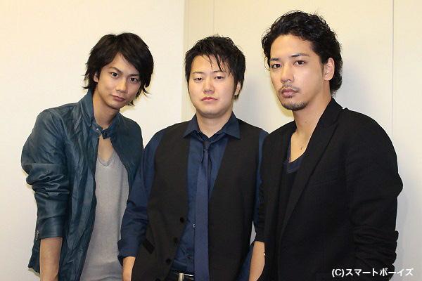 左から馬場良馬さん、遠藤要さん、佐藤祐基さん