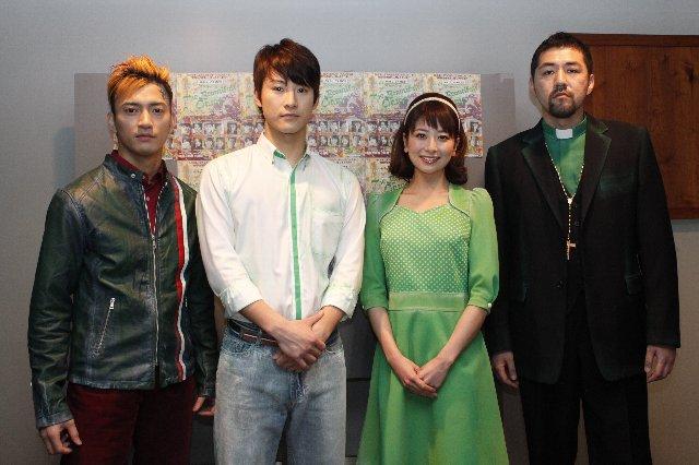 (写真左から)中河内雅貴さん、馬場徹さん、大塚千弘さん、吉原光夫さん
