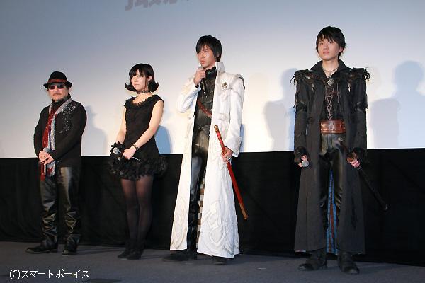 中山さんと水石さん、ふたりの長身魔戒騎士は迫力!