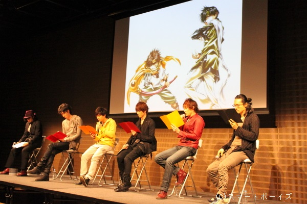 イベント中、コミックの1シーンを再現した朗読劇も披露!