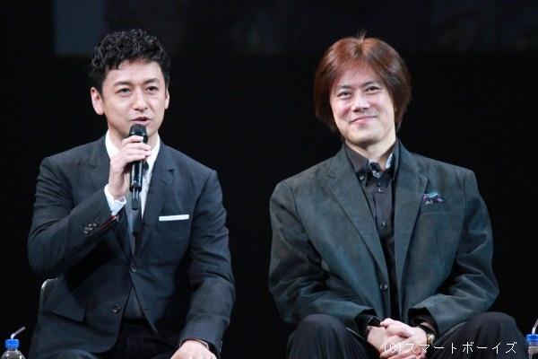 石丸幹二さん(左)と山口祐一郎さんは若手キャストの会話をニコニコと見守ってくれました