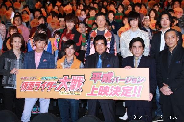 鎧武の現役キャストと藤岡弘、さんはじめ伝説のライダーたちが夢の共演!