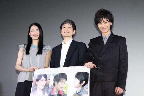 (写真左より)入山法子さん、宮本正樹監督、小澤亮太さん