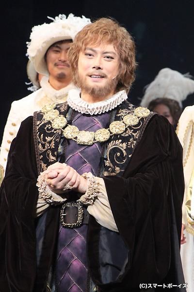 ロジャー・アスカム(Wキャスト)役の 山口祐一郎さん
