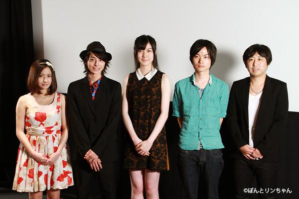 (左から)ヒガリノさん、高杉真宙さん、佐倉絵麻さん、40mPさん、小林啓一監督