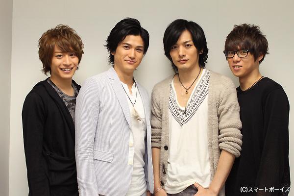 (左より)前山剛久さん、渡辺大輔さん、久保田悠来さん、伊勢大貴さん