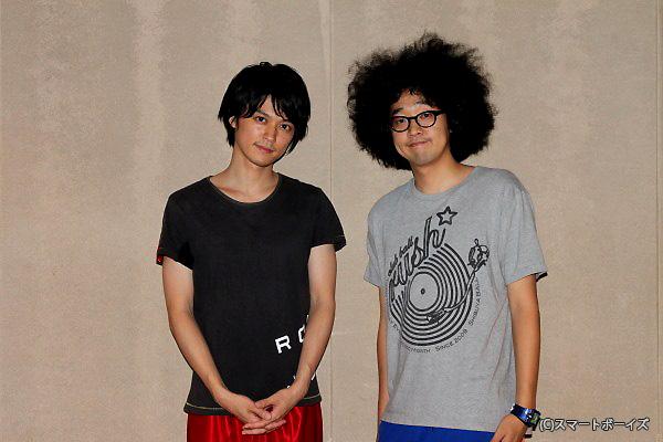 探偵・滝沢役の今井隆文さん(右)と探偵助手の三田村役・大村学さん