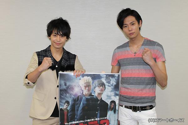 映画公開を前に、意気込む小澤亮太さんと五十嵐麻朝さん