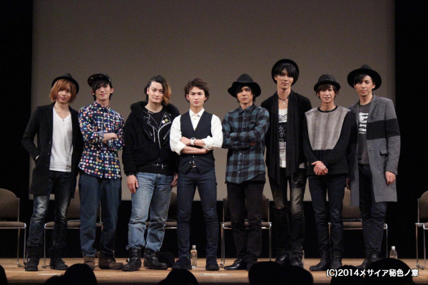(写真左より)染谷俊之さん、廣瀬大介さん、中村龍介さん、松田凌さん、平野 良さん、小谷嘉一さん、赤澤燈さん、井澤勇貴さん