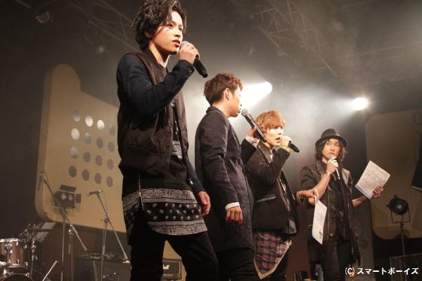 写真はココア男。復活を発表した『MEN'S NA-TION MUSIC LIVE』のもの。ファンの熱い声援を浴びた