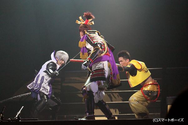 帝・足利義輝(天野浩成)を倒すべく、石田三成・徳川家康が共闘!