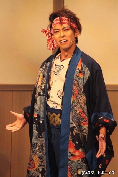猿若勘三郎役の東山光明さん