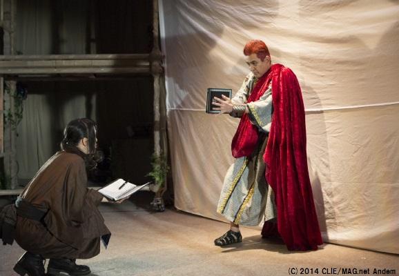 ディオニス王役・名高達男の重厚な演技がストーリーを引き締める