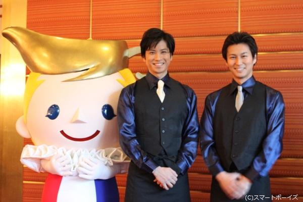 (写真左より)るーちゃん、滝口幸広さん、三上真史さん