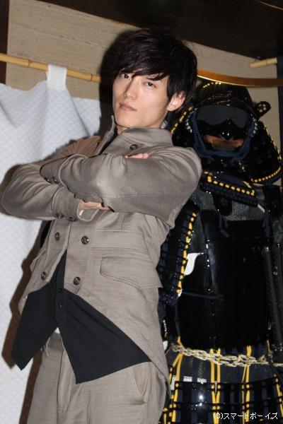 最後は入口に飾られていた伊達政宗の鎧とパチリ☆ お疲れ様でした!!