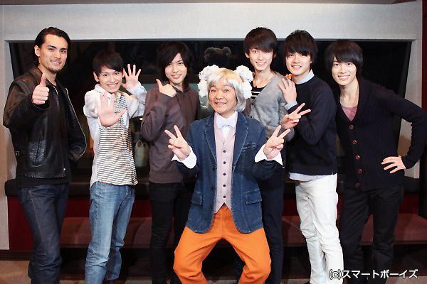 (左より)島田惇平さん、佐藤匠さん、大山聖文さん、山口勝平さん、松井健太さん、結木滉星さん、石田知之さん