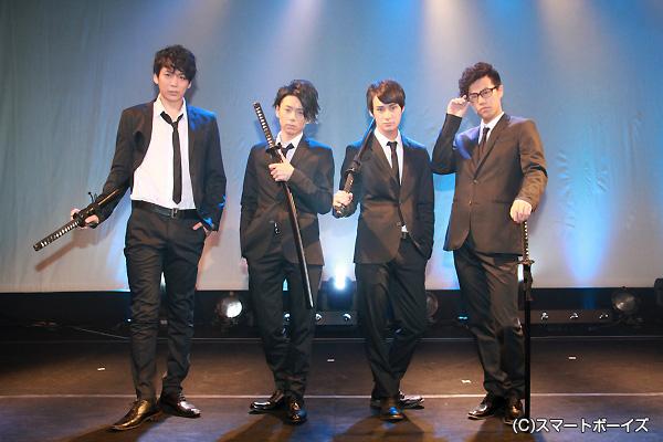 (左から)磯貝龍虎さん、富田翔さん、高崎翔太さん、寺山武志さん