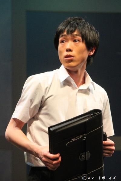 """岩瀬健人役の粕谷雄太さん「大きな作品で大役を演じることが出来て本当に嬉しいです。皆さんに""""何か""""を届けられる様に頑張ります!」"""