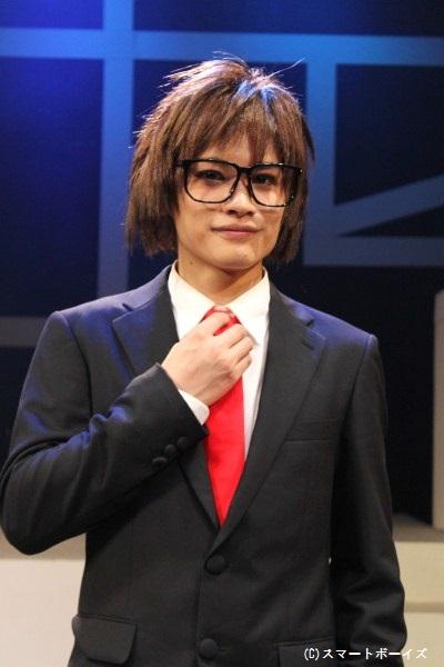 田中吉康役の河原田巧也さん「いよいよ初日の幕が開くので、最後まで集中力を絶やさないように頑張ります!」