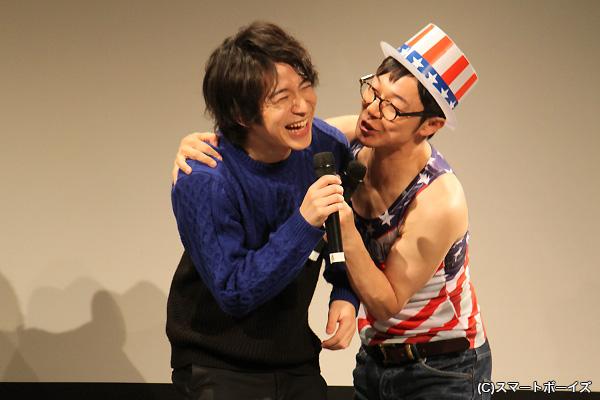 イヤがる村井さんにチューを迫る、さと兄(笑)