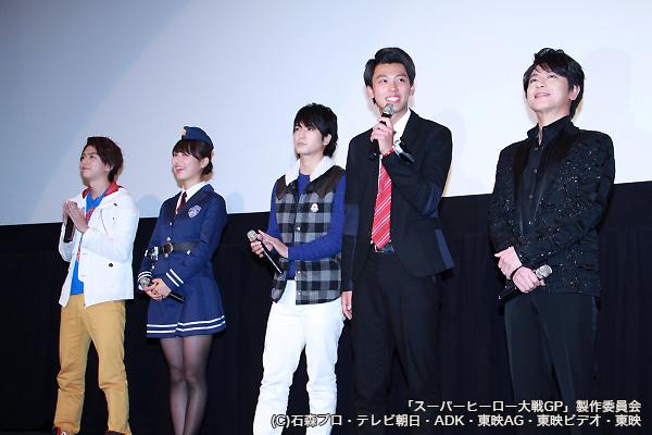 (左より)稲葉友さん、内田理央さん、中村優一さん、竹内涼真さん、及川光博さん