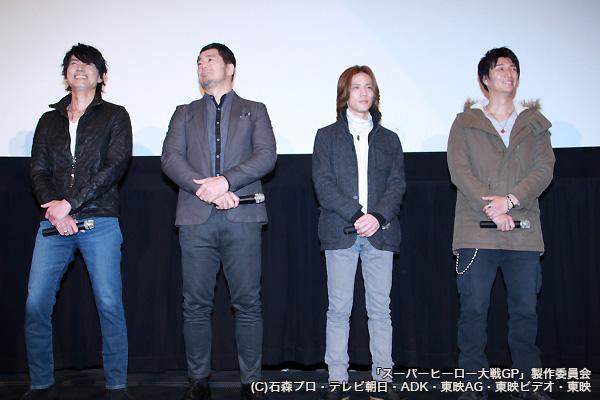 (左より)倉田てつをさん、高田延彦さん、半田健人さん、天野浩成さん