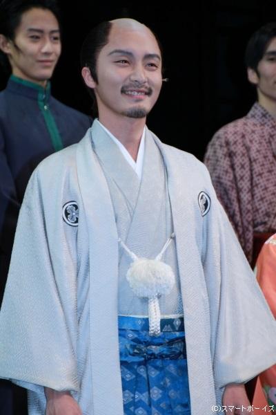長岡藩主・牧野忠恭役の徳山秀典さん