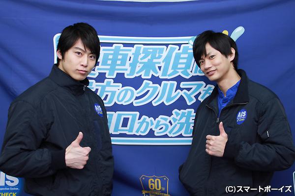 (左)上田悠介さん、(右)馬場良馬さん