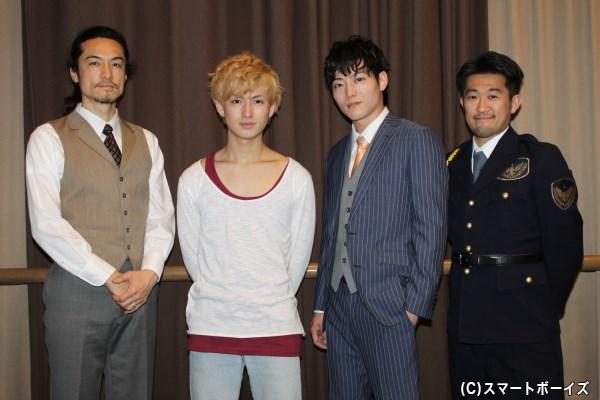 (写真左より)唐橋 充さん、松田 凌さん、山口大地さん、鈴木ハルニさん