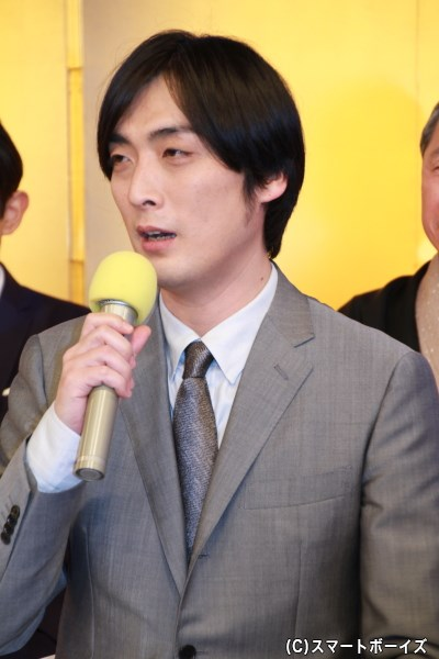 不器用な男・相馬吉五郎役を演じる趙さん。「自分とも重なるので、地を出せて行けたら」とコメント