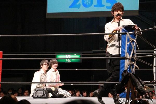 「pot.3」の一コマ。先生役の山本さんと生徒役の篠田さん&鳥越さん
