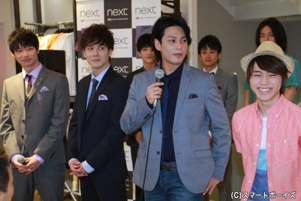「Barrymore Theatre」 (左から)笠松将さん、溝呂木賢さん、大口兼悟さん、深澤大河さん