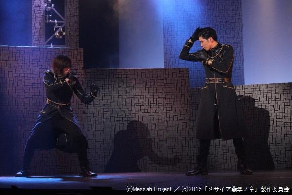 間宮役の染谷俊之さん(左)と、有賀役の井澤勇貴さん
