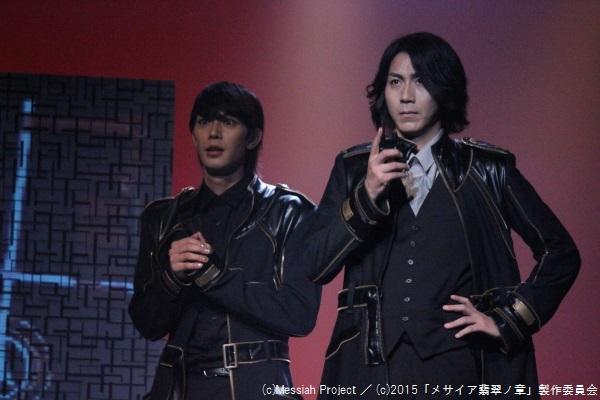 チャーチの世話係・黒子役の小谷嘉一さん(左)と、学長・神北役の郷本直也さん