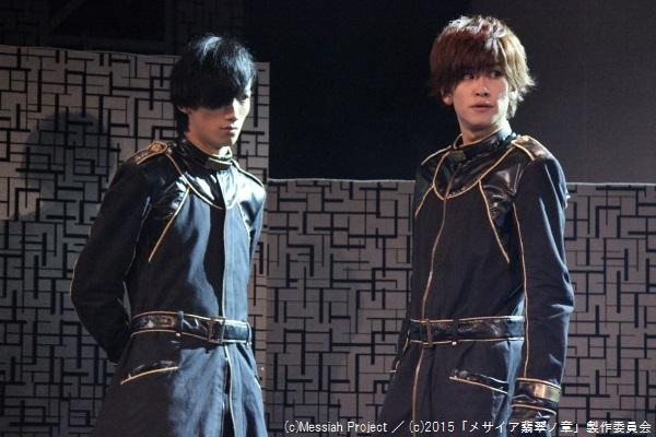 悠里役の廣瀬大介さん(左)と、白崎役の赤澤燈さん